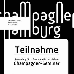 Teilnahme Champagner-Seminar