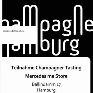 Teilnahme Champagner-Tasting Mercedes Me Store